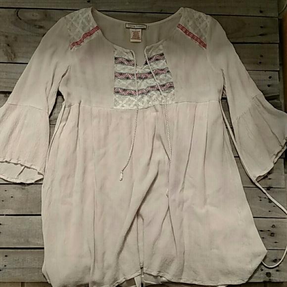 0765e63e509 Flying Tomato Tops - Flying Tomato boho tunic/ dress with bell sleeves
